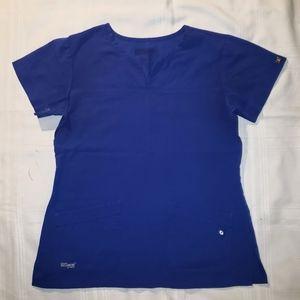 Grey's Anatomy Scrub Top in Royal Blue size Medium